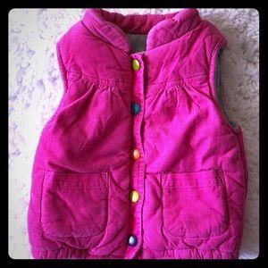 Carters girls corduroy fleece vest